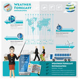 Weather Forecast Infographic Stock Images
