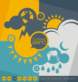 Weather forecast infographic Royalty Free Stock Photos