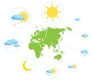 Weather forecast infographic set Stock Photo