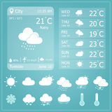 Weather Forecast Interface Template Royalty Free Stock Images