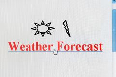 Weather Forecast Internet Link Stock Photos