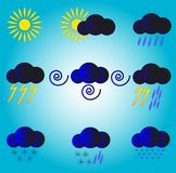 Weather forecast.Meteorological forecast. stock illustration
