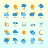 Weather Forecast And Meteorology Set Royalty Free Stock Photography