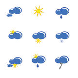 Weather forecast sign vector illustration Stock Photography