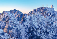 A weather forecast station. A weather forecast station on Huangshan Mountain. China royalty free stock images