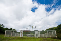 Weather forecast station in northern Thailand Stock Photos