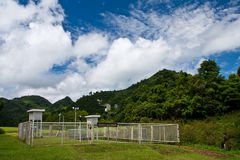 Weather forecast station in northern Thailand. Weather forecast equipment on high mountain Stock Photography