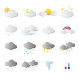 Weather forecast symbol in white background Royalty Free Stock Image