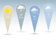 Weather forecast symbols Stock Photo