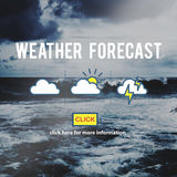 Weather Forecast Temperature Application Concept. Weather Forecast Temperature Application Website Stock Photo