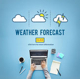 Weather Forecast Temperature Meteorology Concept Royalty Free Stock Photography