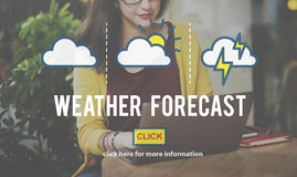 Weather Forecast Temperature Meteorology Concept Stock Image