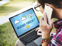 Weather Forecast Temperature Meteorology Concept Stock Photos