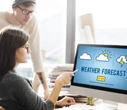 Weather Forecast Temperature Meteorology Concept Royalty Free Stock Images
