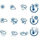 Weather Forecast vector icone Stock Image