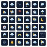 Weather forecast vector icons. Climate and meteo symbols Royalty Free Stock Photo