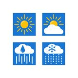Weather forecast vector icons set vector illustration