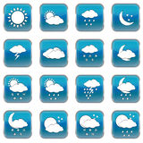 Weather forecast web buttons Royalty Free Stock Image
