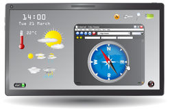 Weather forecast web page Stock Image