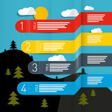 Weather Forecasting Vector Infographic Royalty Free Stock Photos