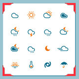 Weather | In a frame series. Weather icons | In a frame series Stock Image