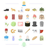Weather, garbage, animal and other web icon in cartoon style. Viking, appearance, vegetable, travel icons in set Stock Images