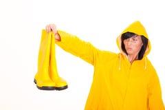 Weather girl Stock Photos