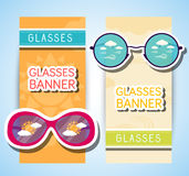 Weather glasses banner Royalty Free Stock Photo