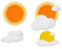 Weather grunge recycled paper craft stick Stock Photography