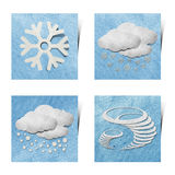 Weather grunge recycled paper craft stick on white Royalty Free Stock Photo