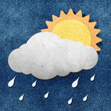 Weather grunge recycled papercraft Royalty Free Stock Photography