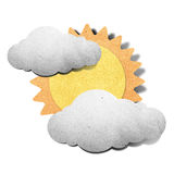Weather grunge recycled papercraft Royalty Free Stock Images