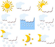 Weather hand drawing icons,vector Stock Images