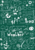 Weather hand drawn icons Royalty Free Stock Photography