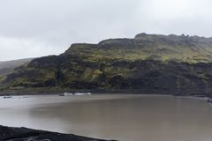 Another view on the hills near the Mýrdalsjökull glacier Stock Image