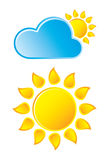 Weather Icon. Vector Weather Icon on White Stock Illustration