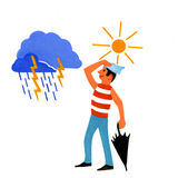 Weather icon Royalty Free Stock Photo