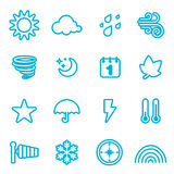 Weather icon. Set of weather icon vector Stock Photography