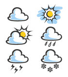 Weather icon. Vector illustration isolated on white background Stock Photography
