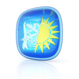 Weather icon 3d Royalty Free Stock Photo