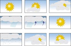 Weather icon. Set (vector illustration vector illustration