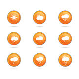 Weather icon button color vector illustration Royalty Free Stock Photo