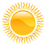 Weather icon clipart sun illustration Stock Image