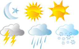 Weather icon Royalty Free Stock Photography