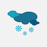 Weather Icon of the Cloudy Snowing Sky Royalty Free Stock Images