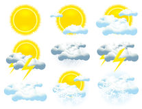 Weather icon collection Stock Image
