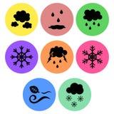 Weather Icon designs Stock Photos