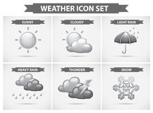 Weather icon with different types of weathers Stock Image