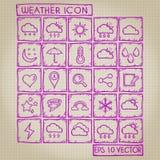 Weather Icon Doodle Set Royalty Free Stock Photos