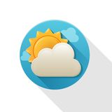 Weather icon flat Stock Photos